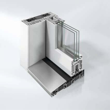 Schiebetür-Profil Schüco ThermoSlide